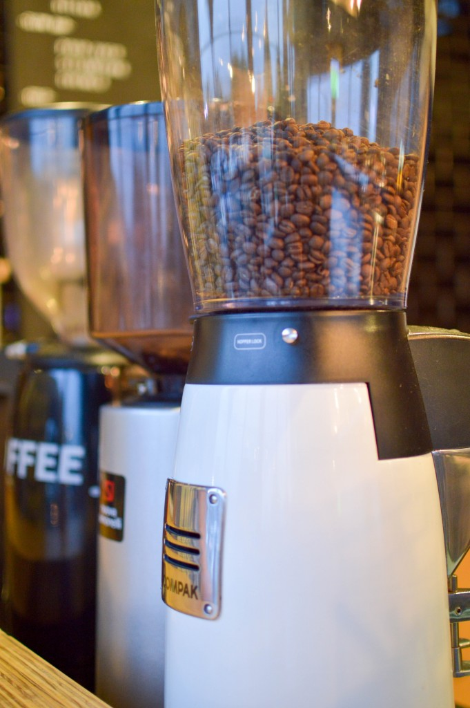 An image of a coffee grinder at Vintage Coffee